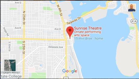 Map Of Fort Pierce Florida.Sunrise Theatre Sunrise Theatre Fort Pierce For The Performing