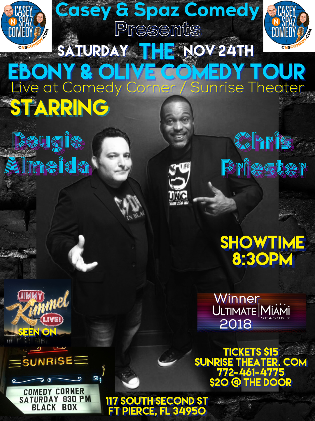Ebony and Olive Comedy Tour Starring Dougie Almedia and Chris Priester