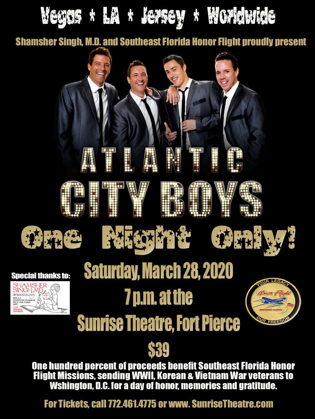 Shamsher Singh, M.D. & Southeast Florida Honor Flight Presents: Atlantic City Boys