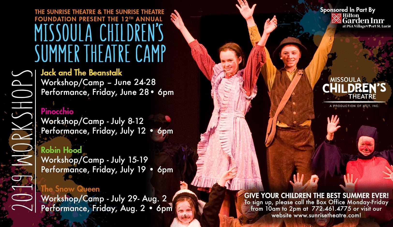 Missoula Children's Theatre Summer Camp