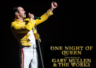 Photo showing Gary Mullen as Freddie Mercury