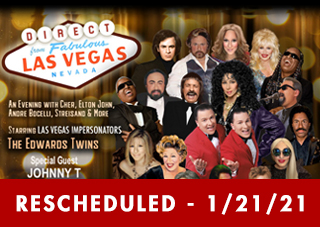 Evening With The Stars - Las Vegas Impersonators The Edwards Twins With Special Guest Johnny T   RESCHEDULED