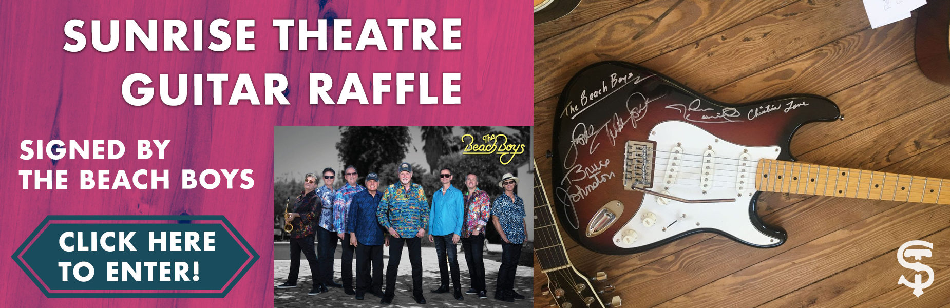 Win A Guitar Signed By The Beach Boys! Click The Image To Enter!