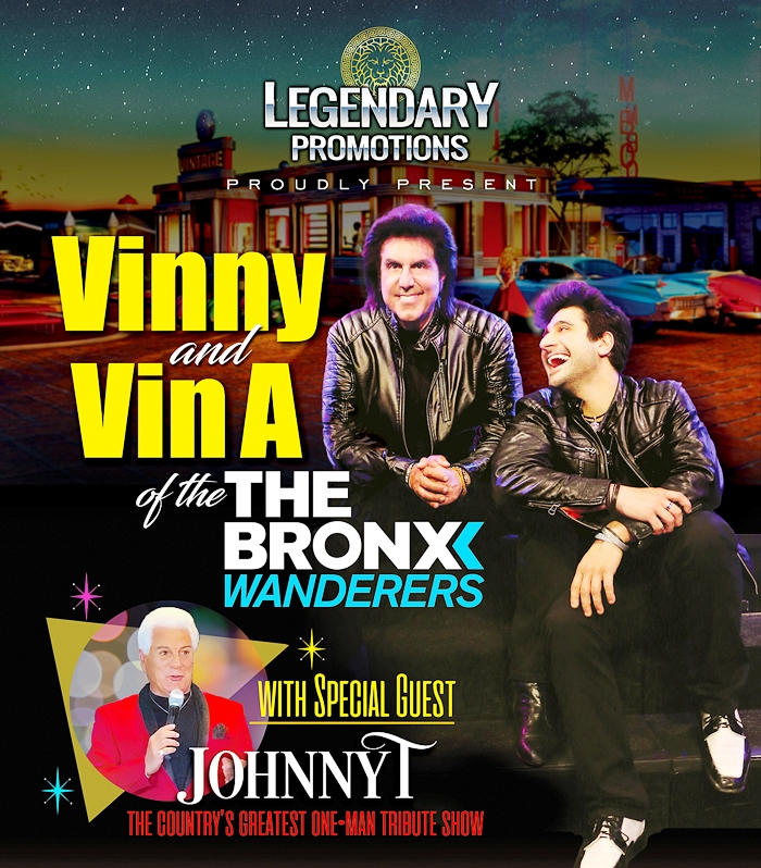 Legendary Promotions Presents: Vinny and Vin A of The Bronx Wanderers & Johnny T - 50% Capacity