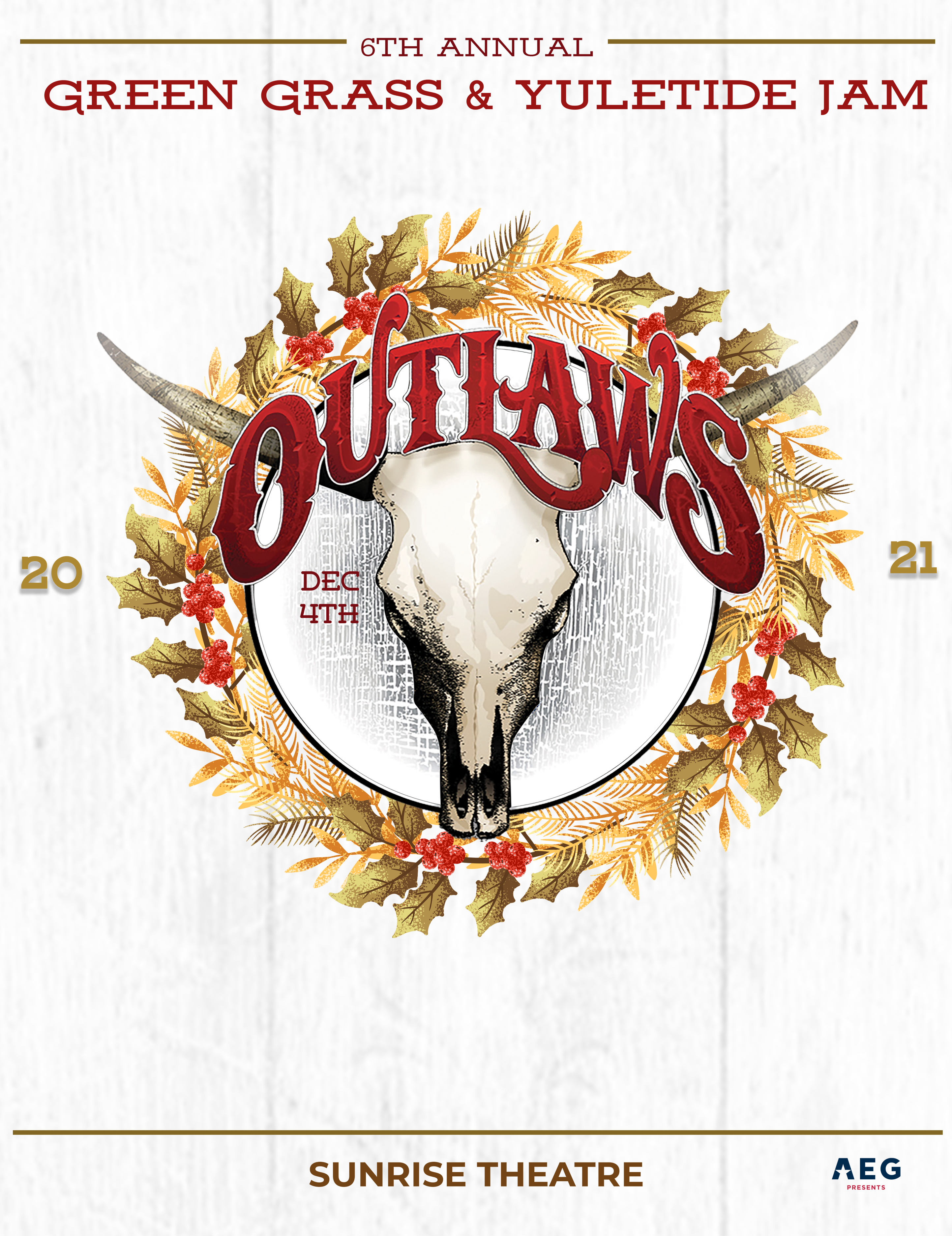 Sunrise Theatre and AEG Presents: The Outlaws With Pat Travers