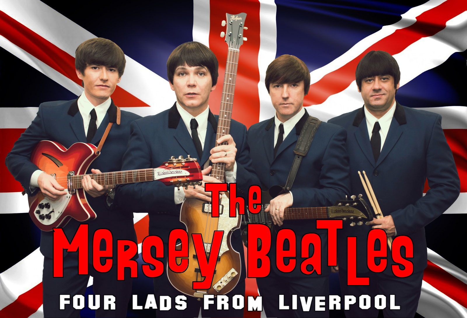 Lightning Productions Presents The Mersey Beatles Four Lads From Liverpool